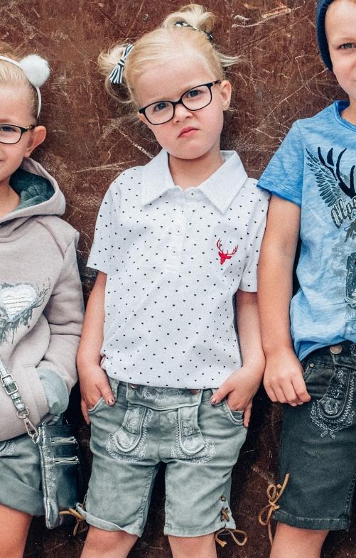 Children tradtional short COLORSHORT KIDS light gray