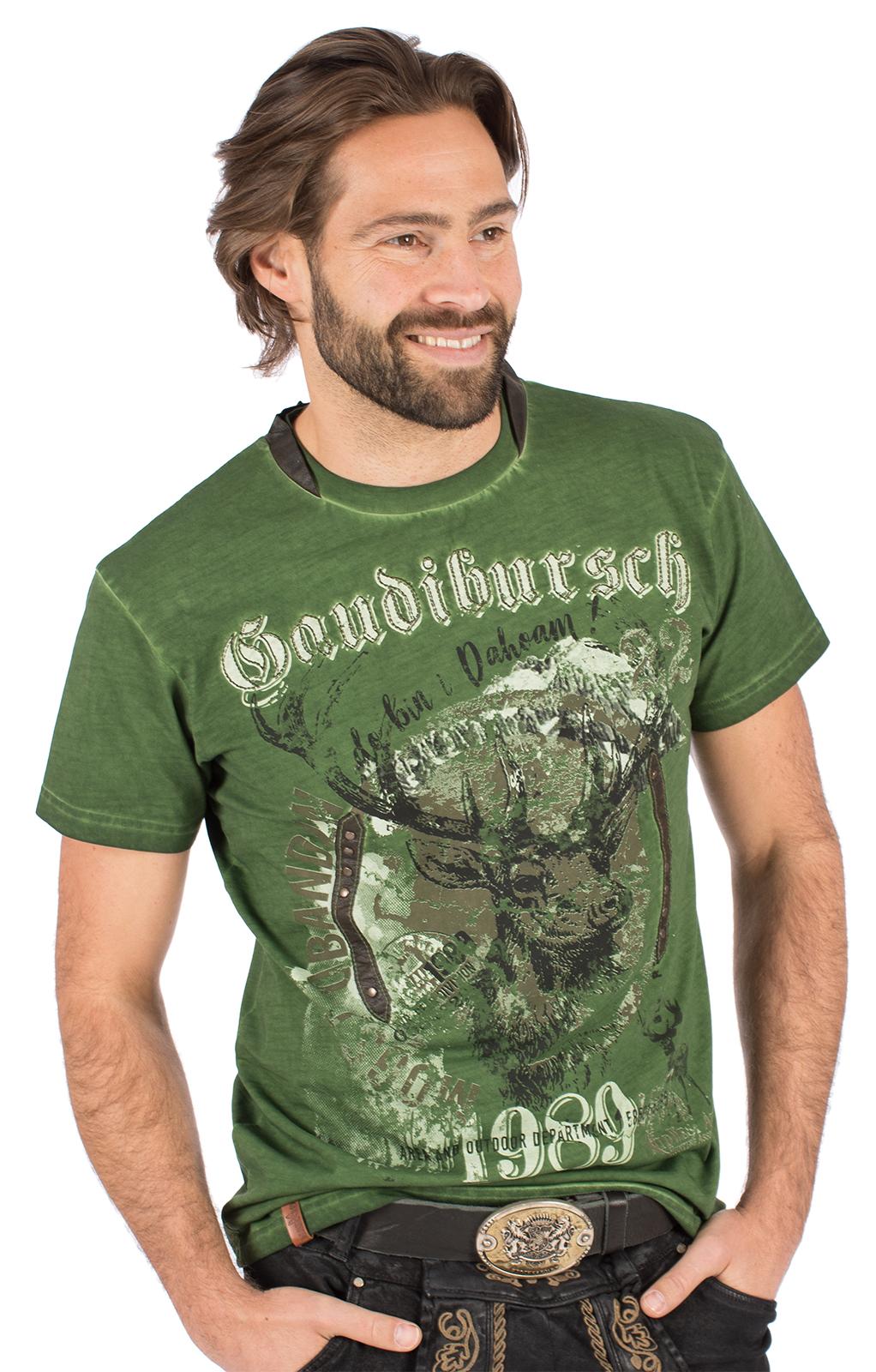 Trachten T-Shirt B36 - GAUDIBURSCH grün von Marjo