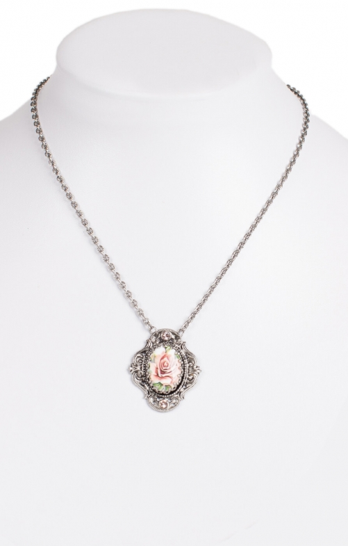 Collier with Swarovski H1653-1, salmon
