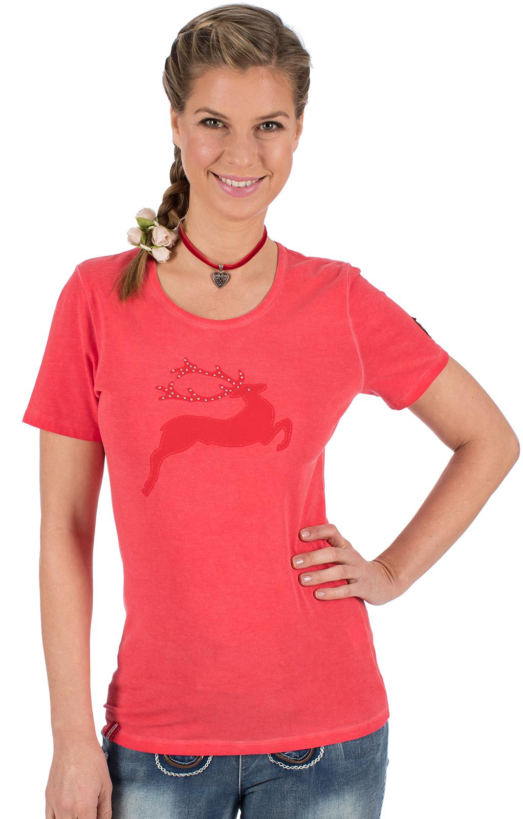 Trachten T-Shirt WALLERALM rot von Almgwand