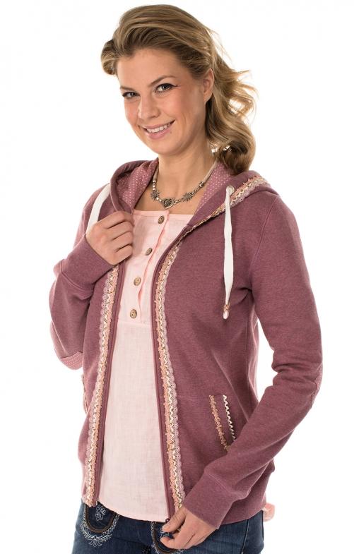 Trachten Jacket Hoodie pink