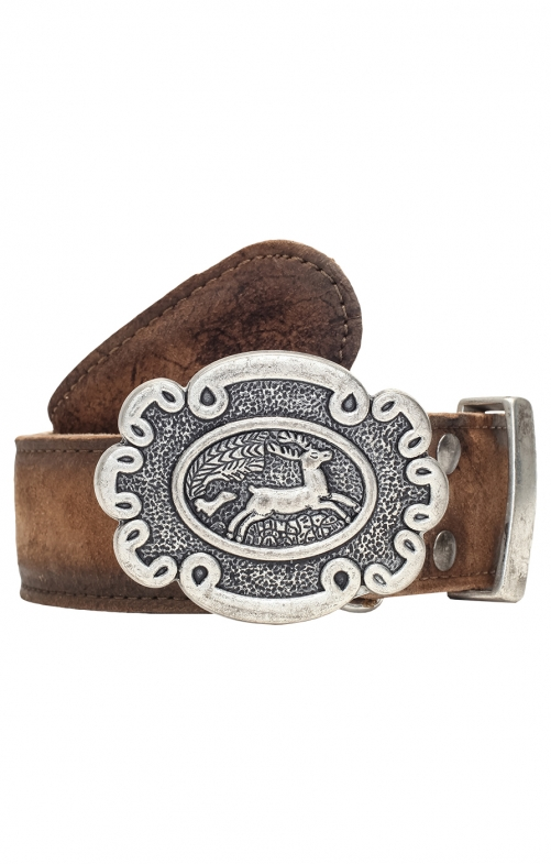 Traditional leather belt GO65 deer
