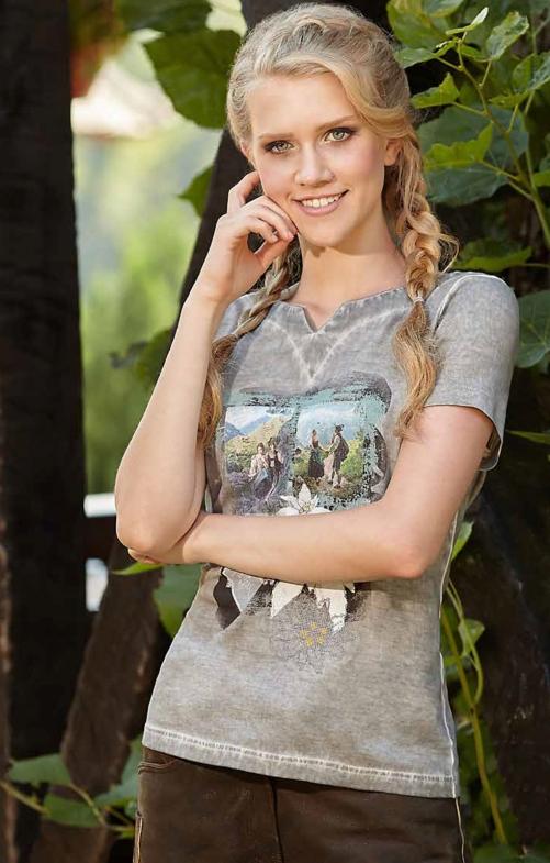 Tiroler Tiroler T-Shirtss 321113 grijs