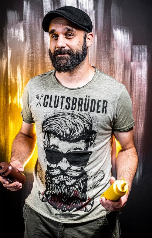 T-Shirt GLUTSBRÜDER oliv