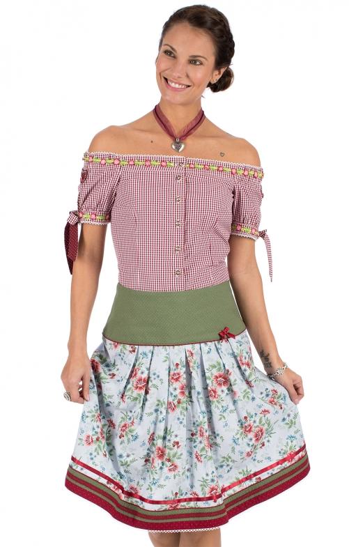 Traditional skirt FILANA green blue
