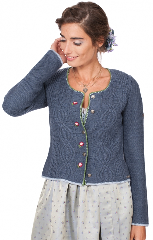 Traditional Cardigan Fancy jeansblue