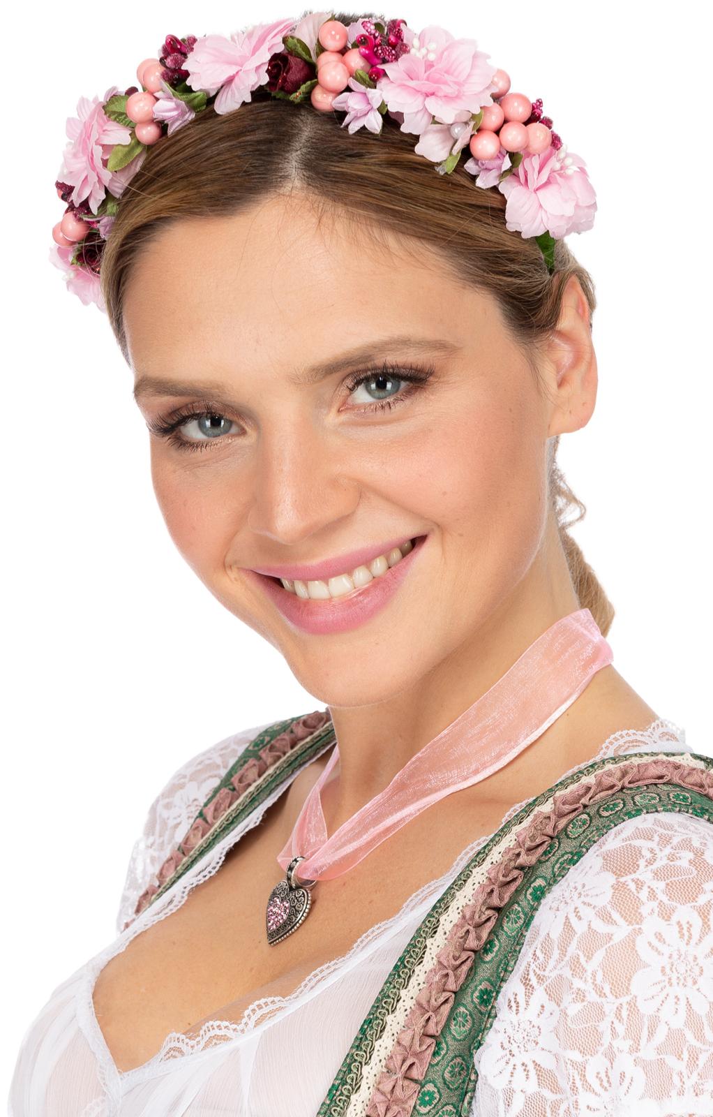 Haar- und Hutkranz SOPHIA 1014 rosa von Fielana