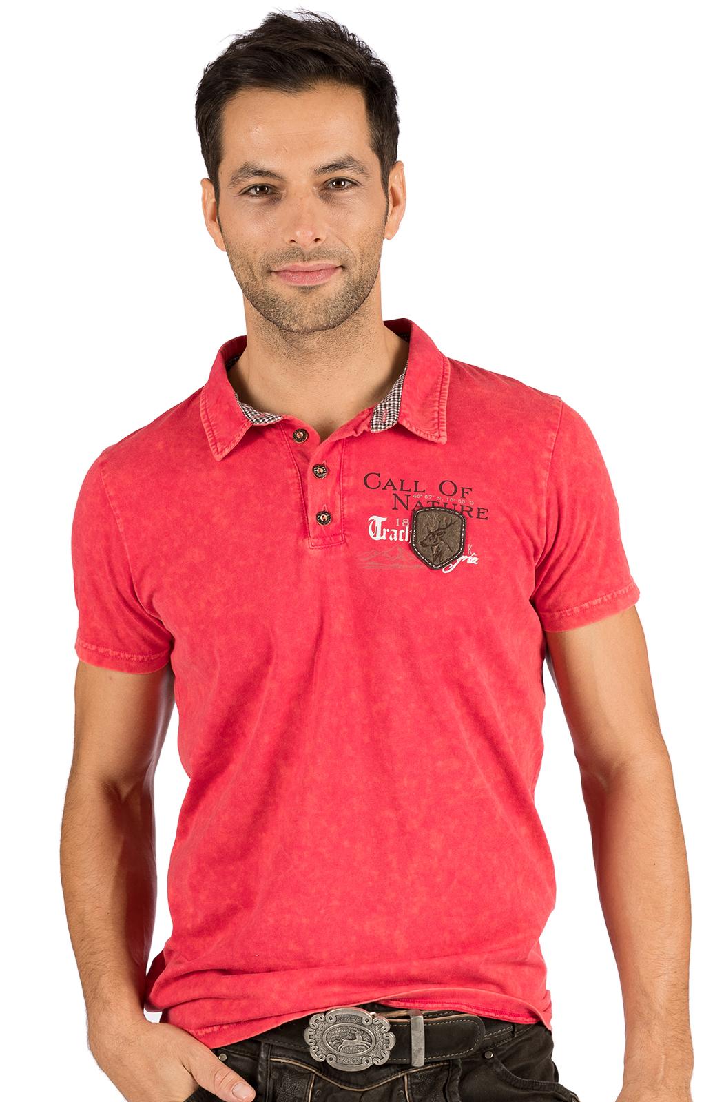Trachten T-Shirt ODOARDO rot von Hangowear