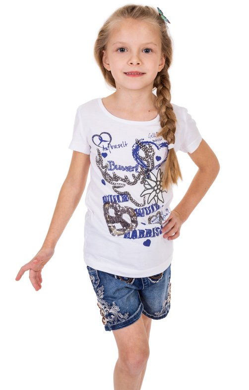 Children traditional shirt W13 - NARRISCH-KIDS white