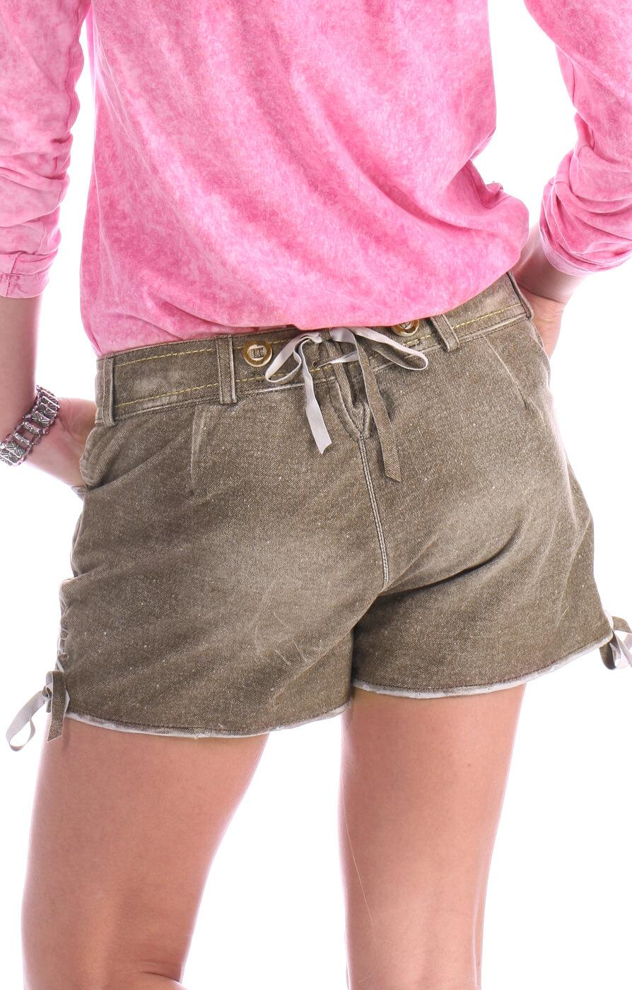 weitere Bilder von Tradizionale Pantaloncini di pelle corta MEDA marrone
