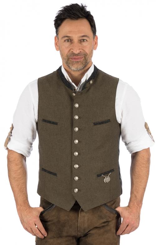 Traditional waistcoat 423000-3422-60 brown