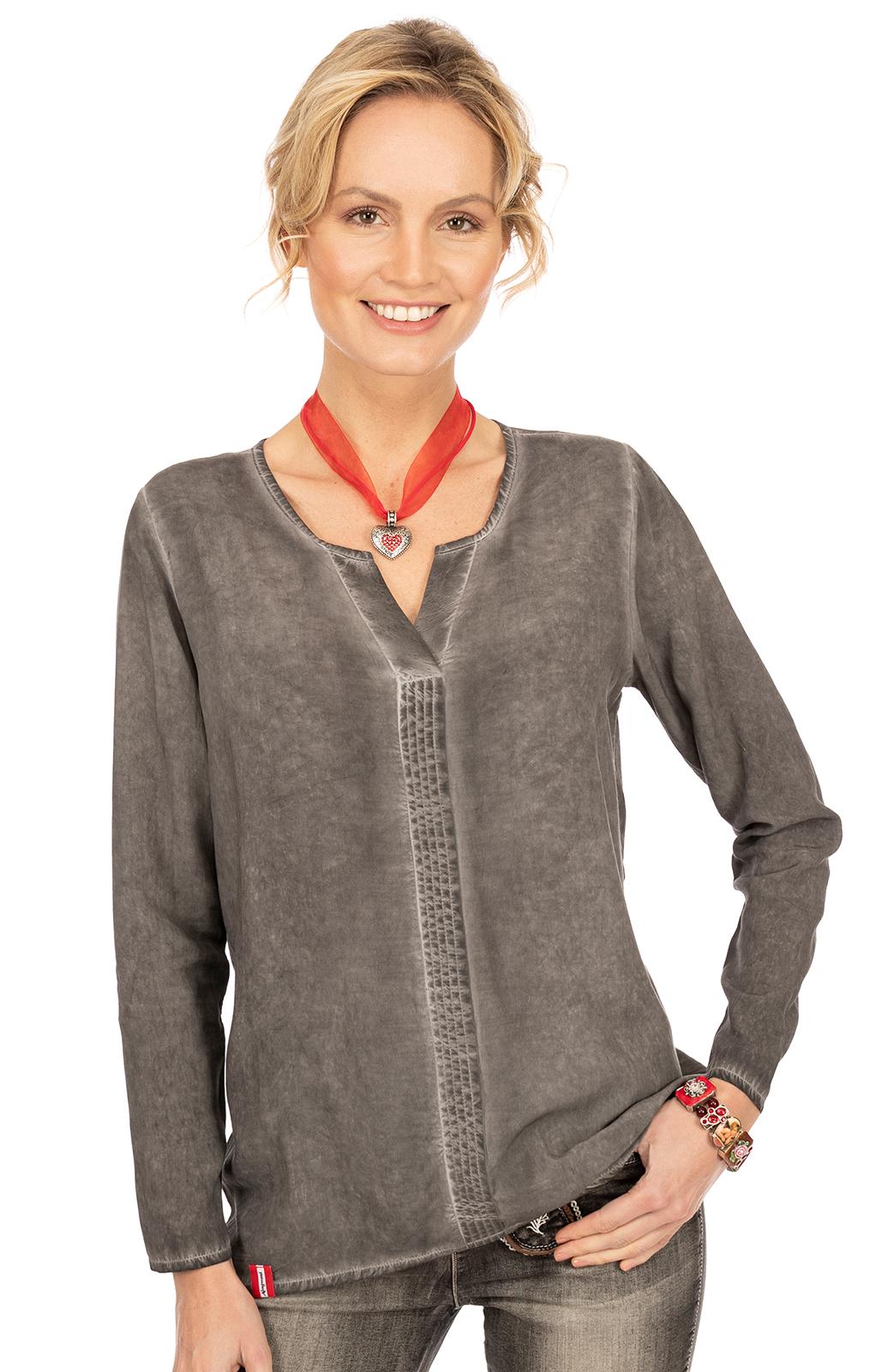 Langarm Shirt BINSALM grau von Almgwand