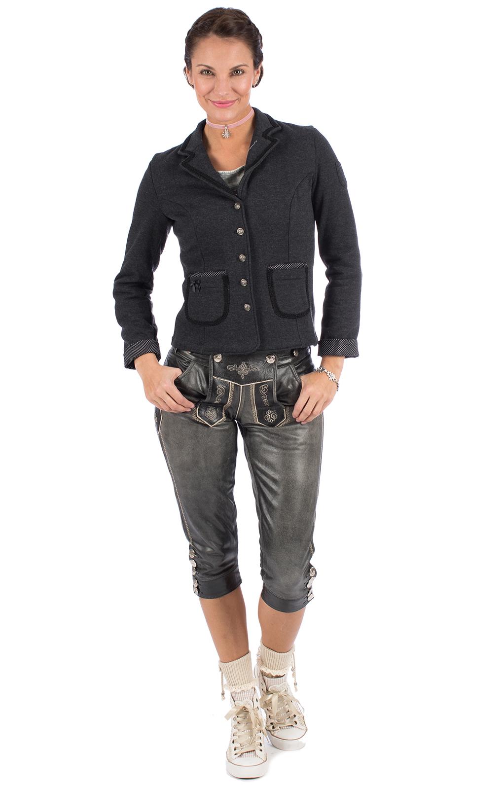 weitere Bilder von Trachtenjacke K96-LORE grau schwarz