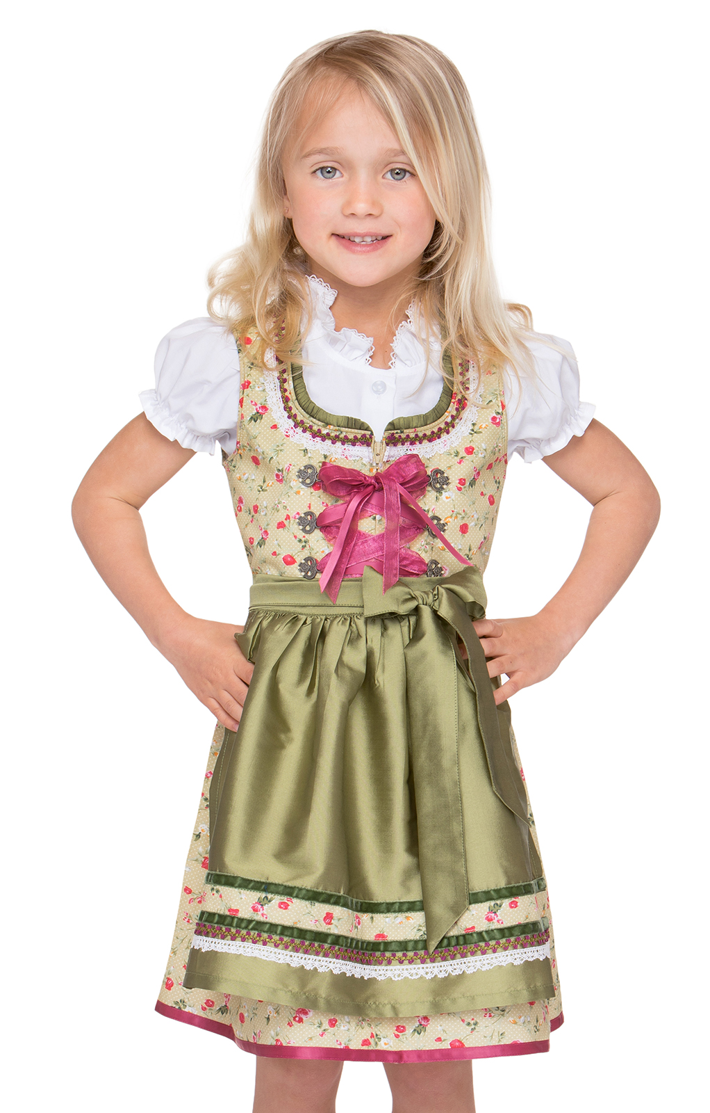 Traditional Children dirndl POLA green von Stockerpoint