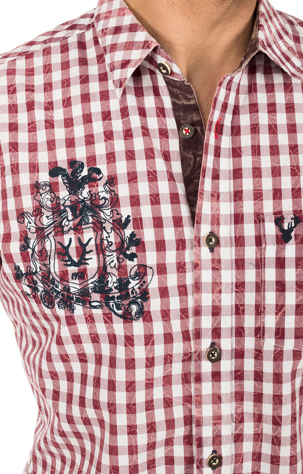 weitere Bilder von German traditional shirt white red