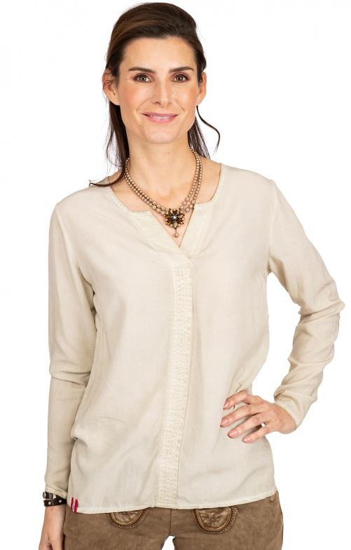 Langarm Shirt BINSALM beige