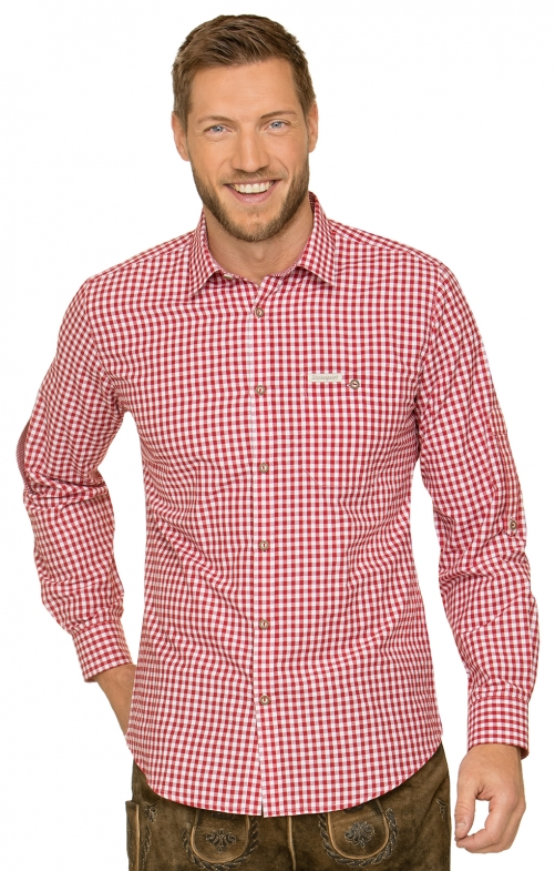 German traditional shirt CAMPOS3 red