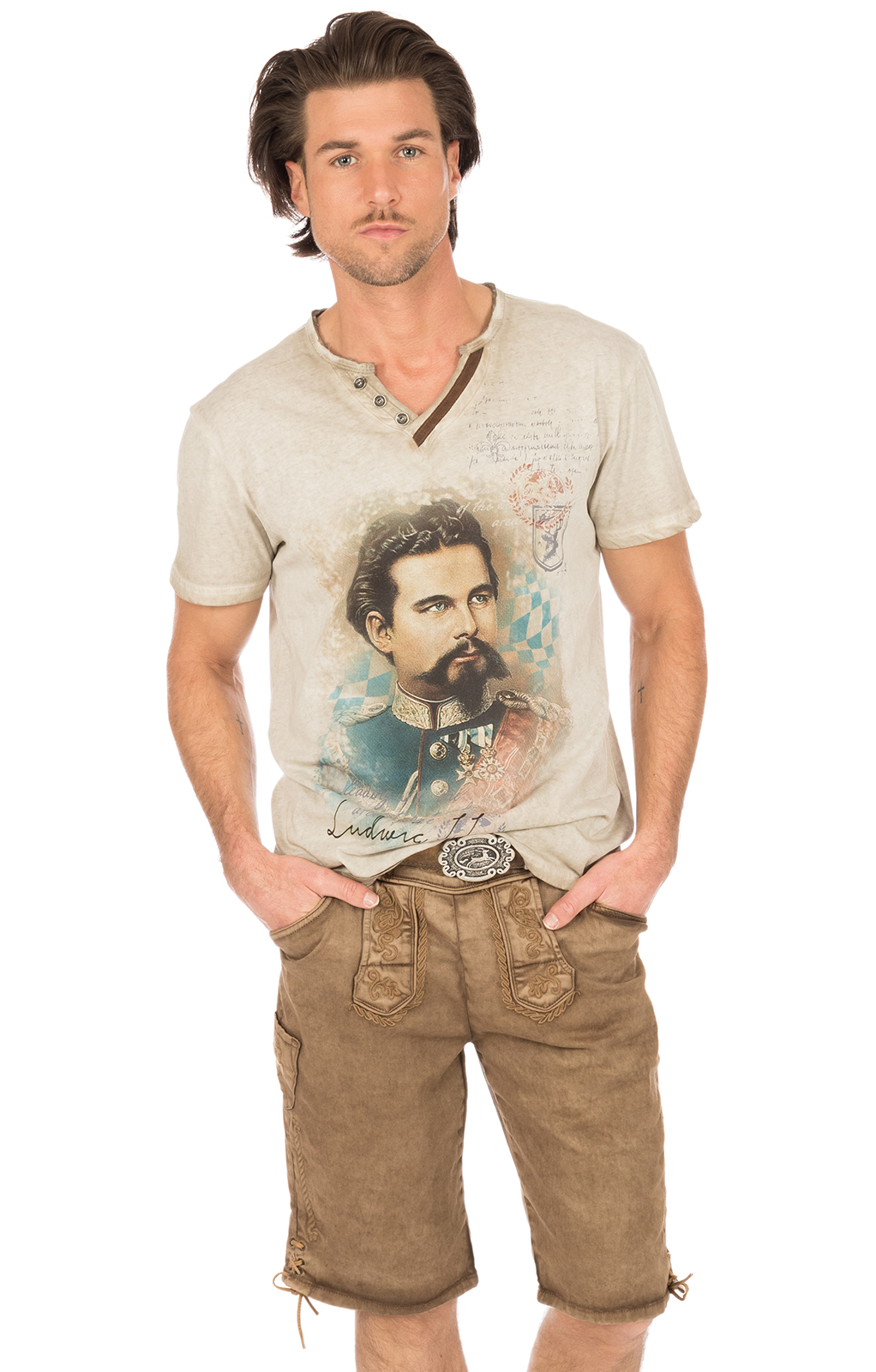 Breve costume jeansshort HE marrone von Hangowear