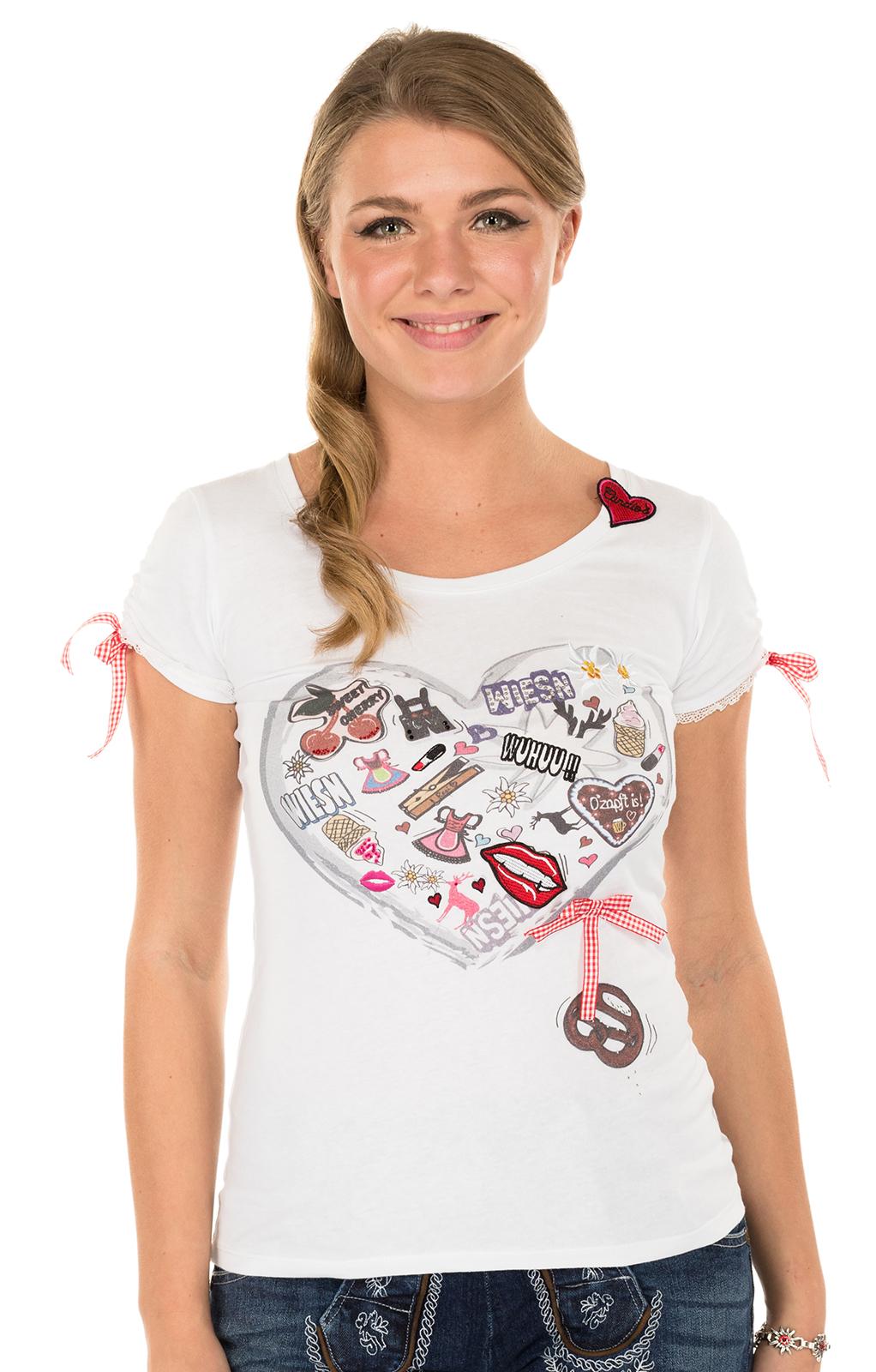 Trachten T-Shirt HAPPY weiss von Krüger Dirndl