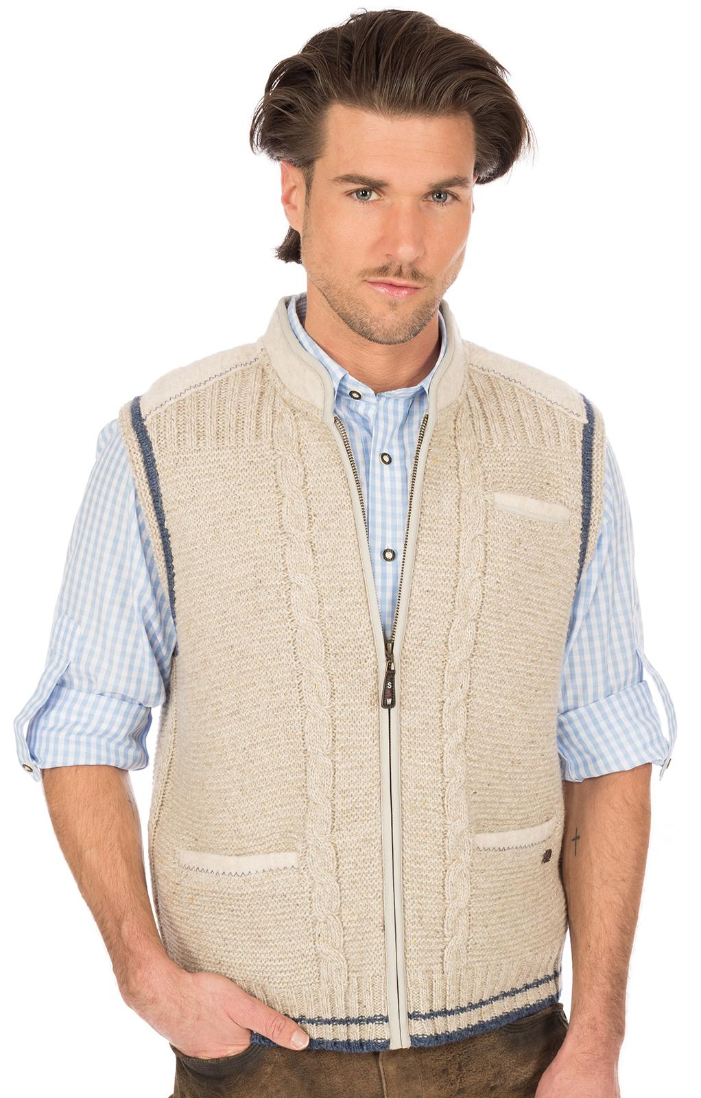 Traditional waistcoat knitted brown blue von Spieth & Wensky