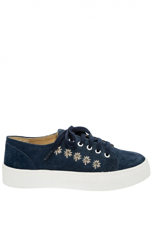 Trachten shoe D102 Ludmilla denim Crosta
