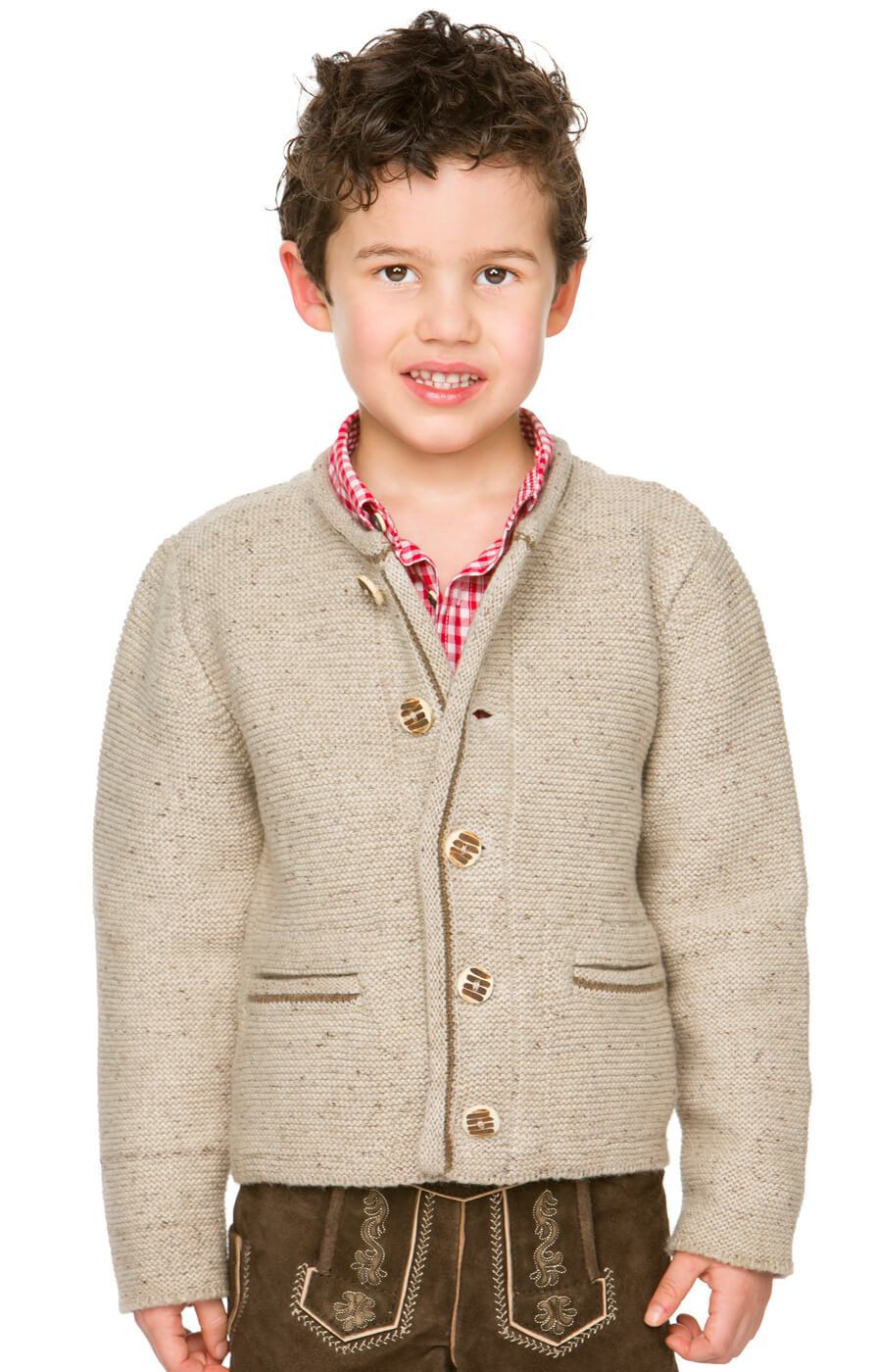 Kinder Strickjacke MALO natur von Stockerpoint