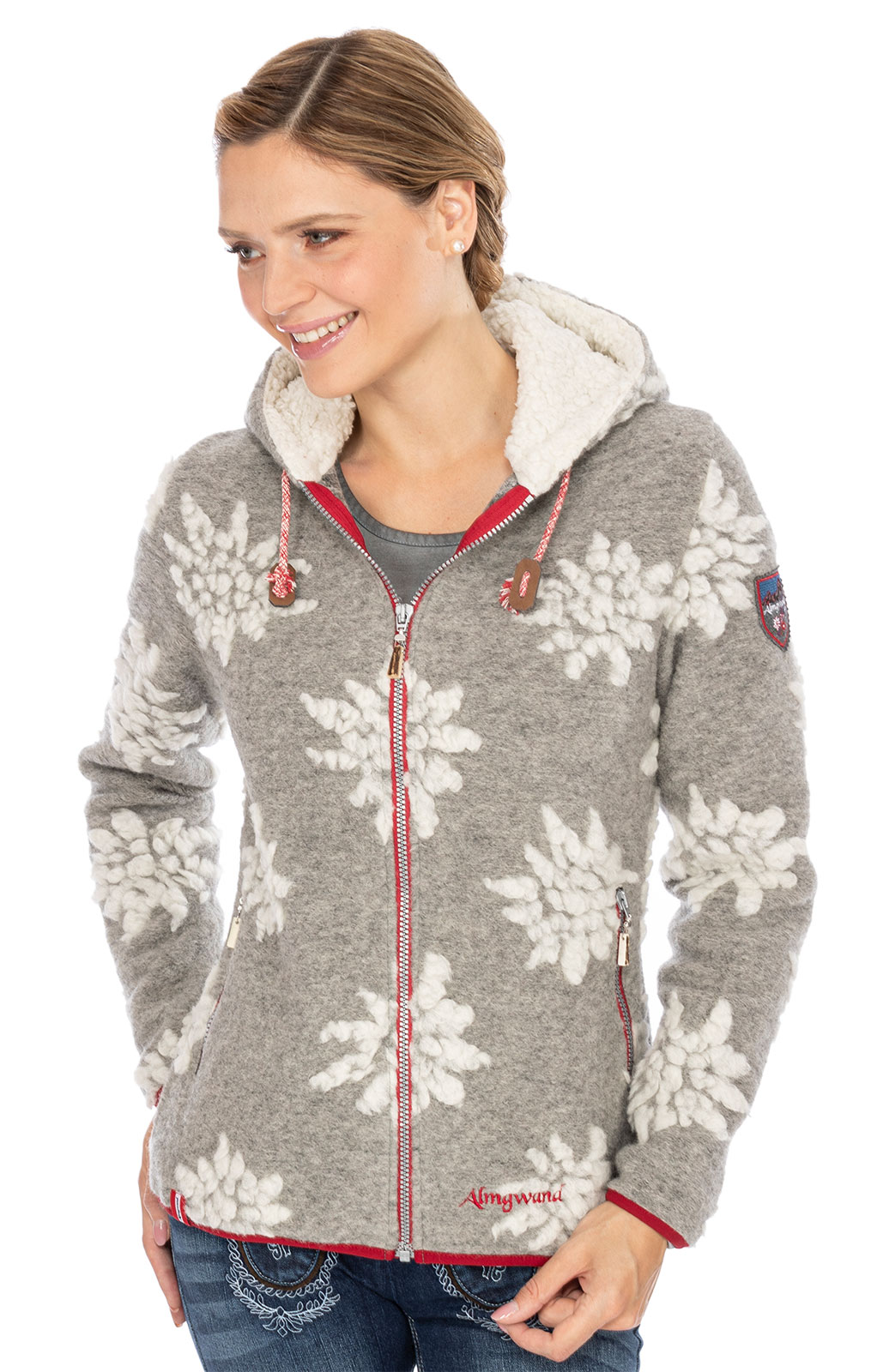 Giacca in maglia WILDENKOGEL grigio von Almgwand