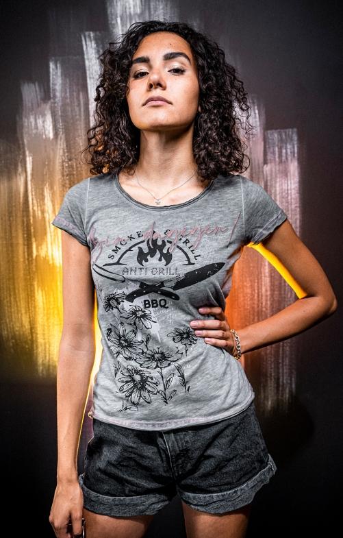 Tracht T-Shirt ANTIGRILL light grey