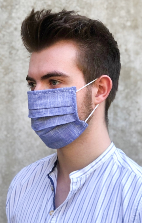 Face mask 3325-43 jeansblue