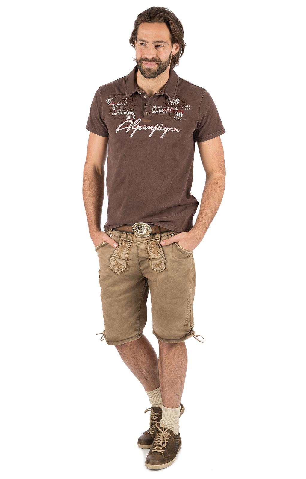 weitere Bilder von Trachten T-Shirt E09 - ALPENJAEGER braun
