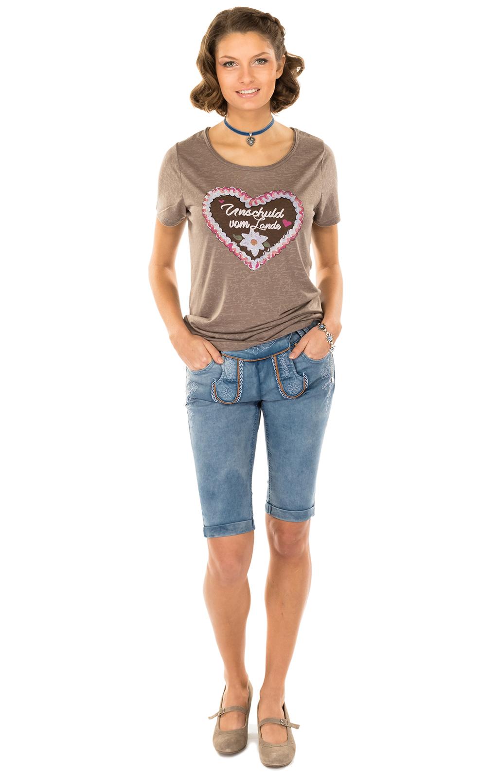 weitere Bilder von Trachten T-Shirt ANTARES funghi Herzmotiv