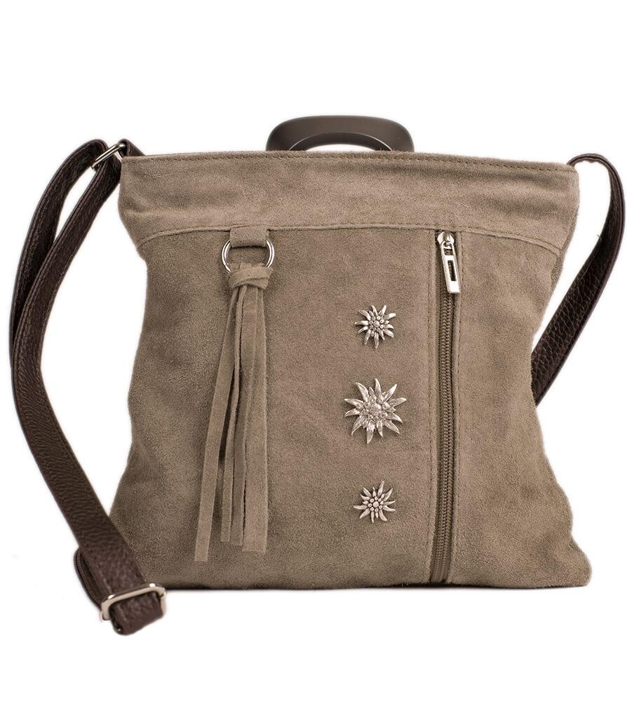 Traditional dirndl bag TA30300-3, gray brown von Schuhmacher