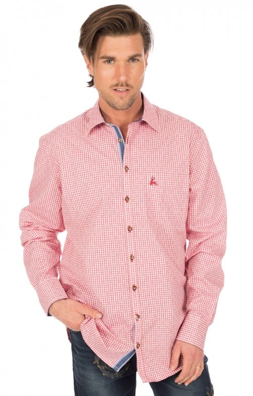 German traditional shirt long sleeve red