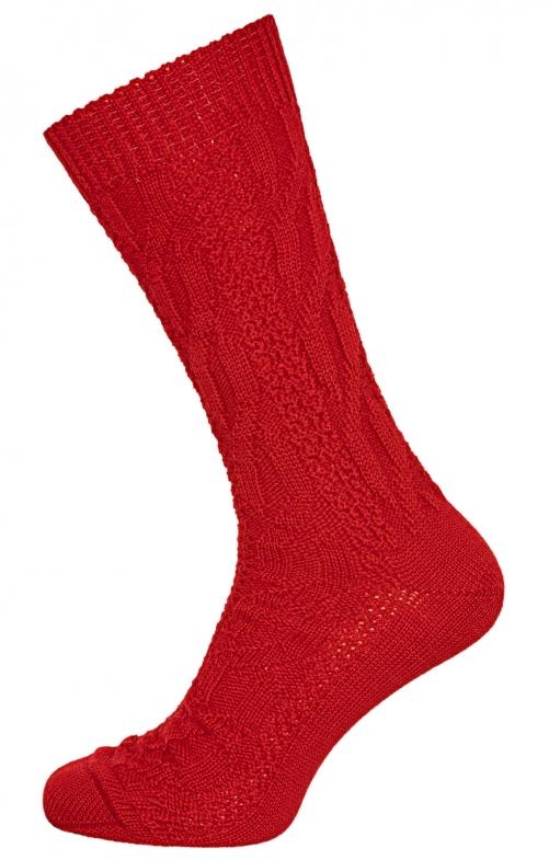 Calzettoni tipici Trachten CS526 rosso