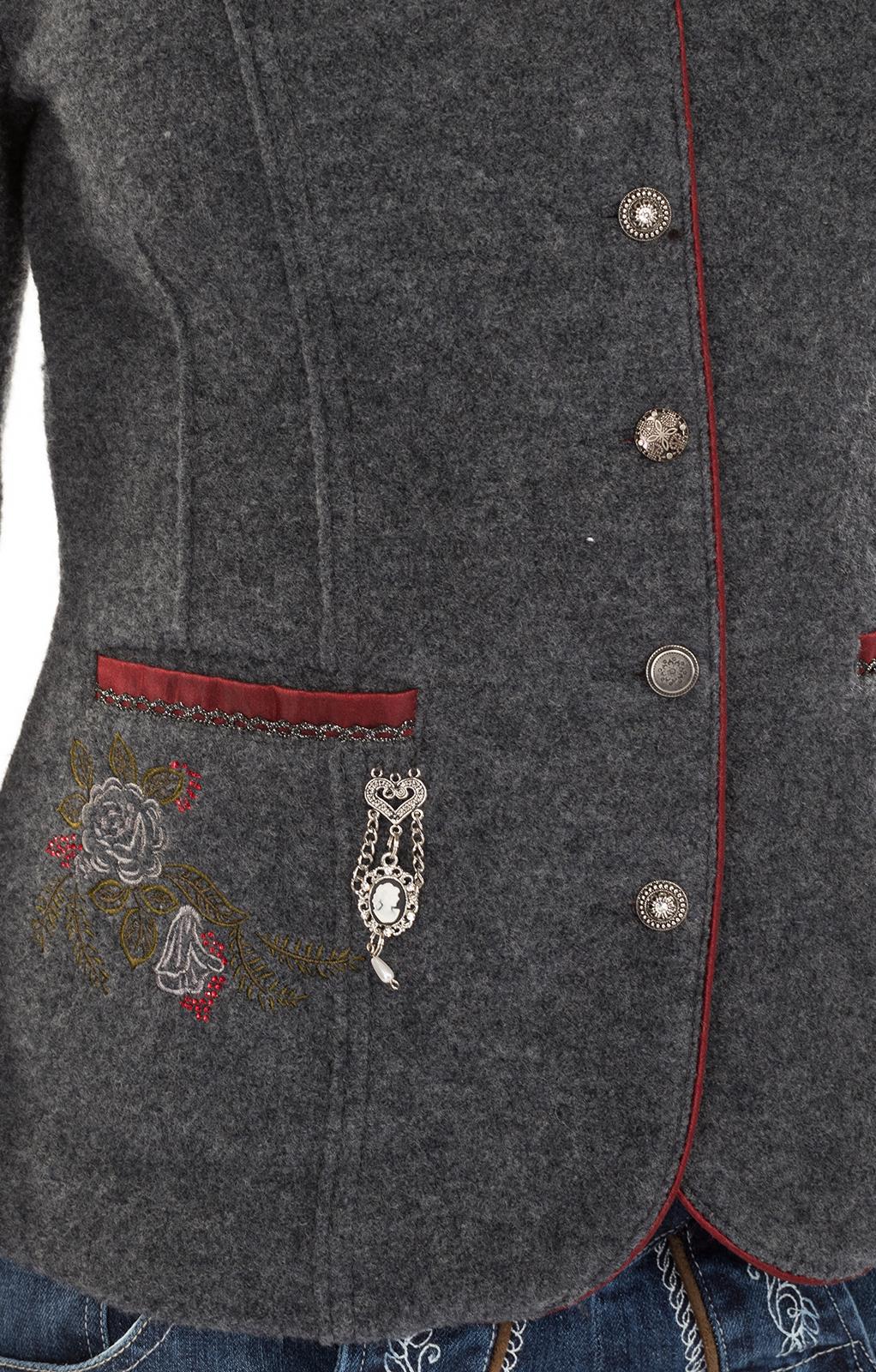 weitere Bilder von Giacca per Trachten Genda grigio chiaro rosso