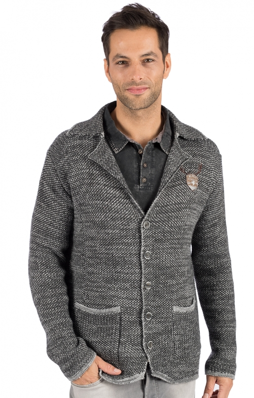 Tradizionale giacca a maglia OLAF grigio