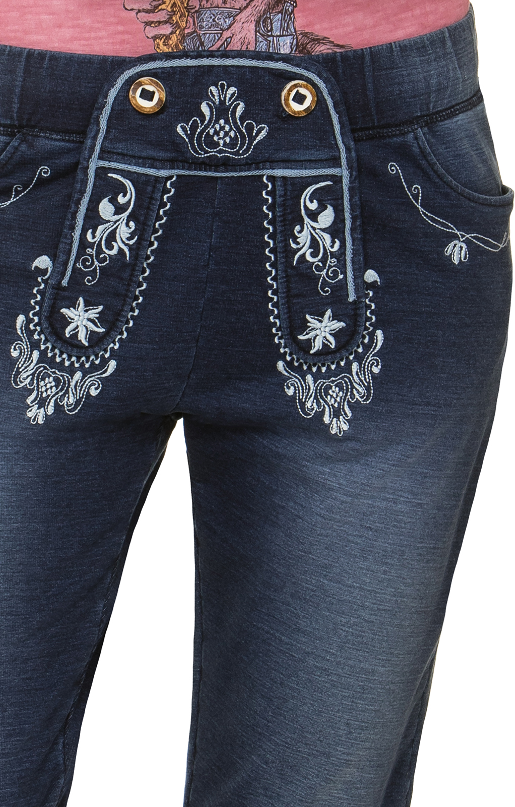 weitere Bilder von Trachtenhose Kniebund workout Jogging ASHLEY denimblue