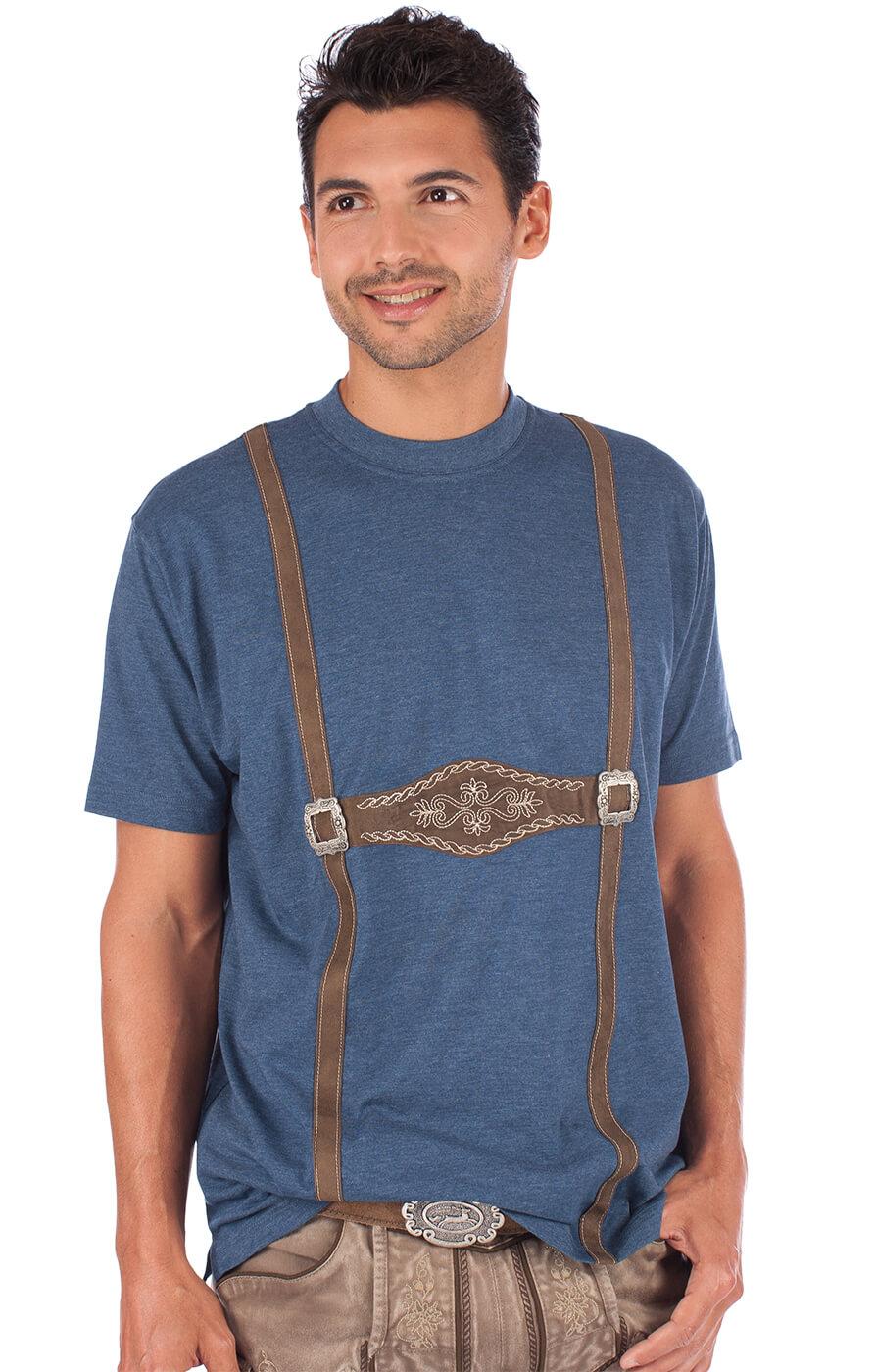 Trachtenshirt T-Shirt 928001-3460-42blauw von OS-Trachten