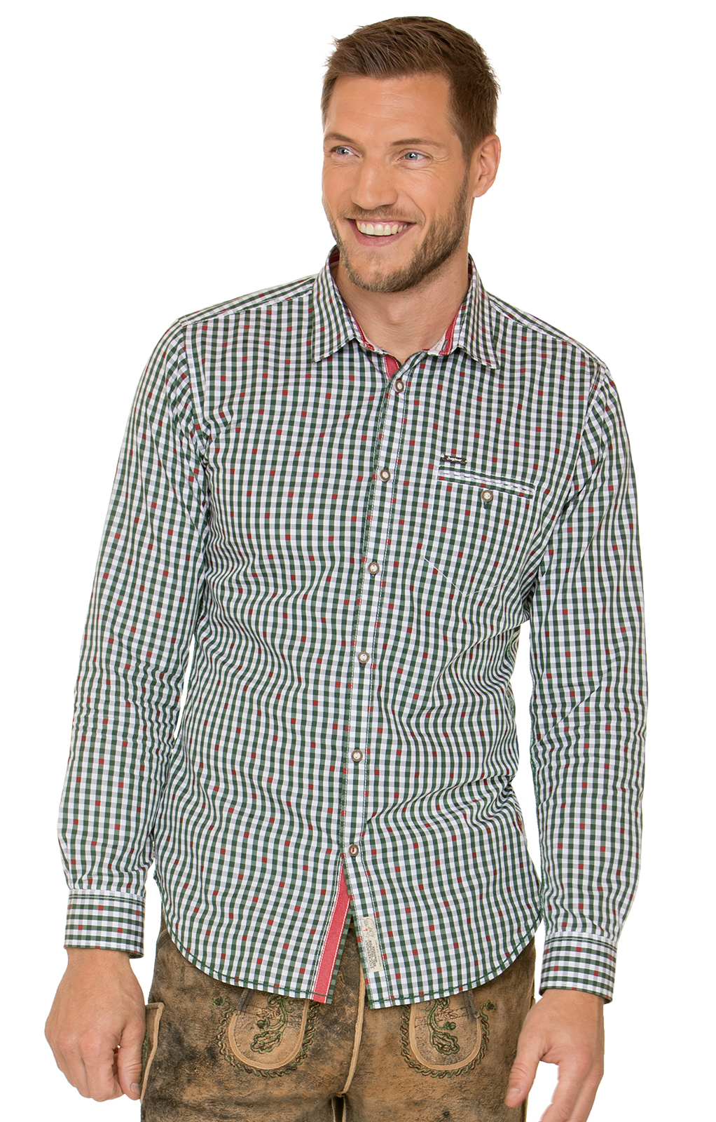 German traditional shirt long sleeve Don green von Stockerpoint
