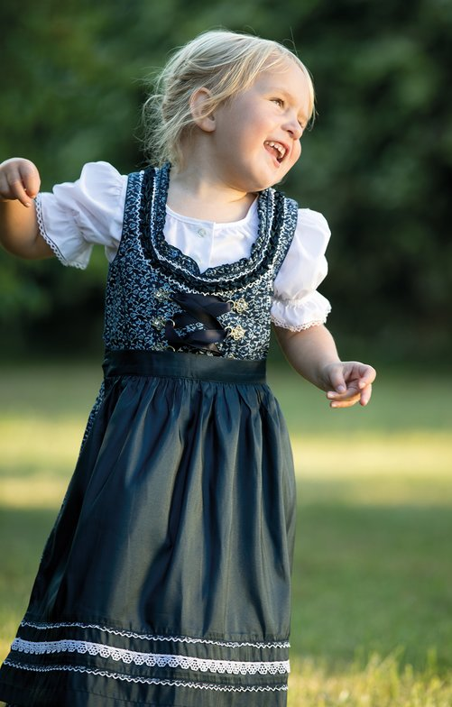 Traditional Children dirndl DOMENICA-KIDS blue
