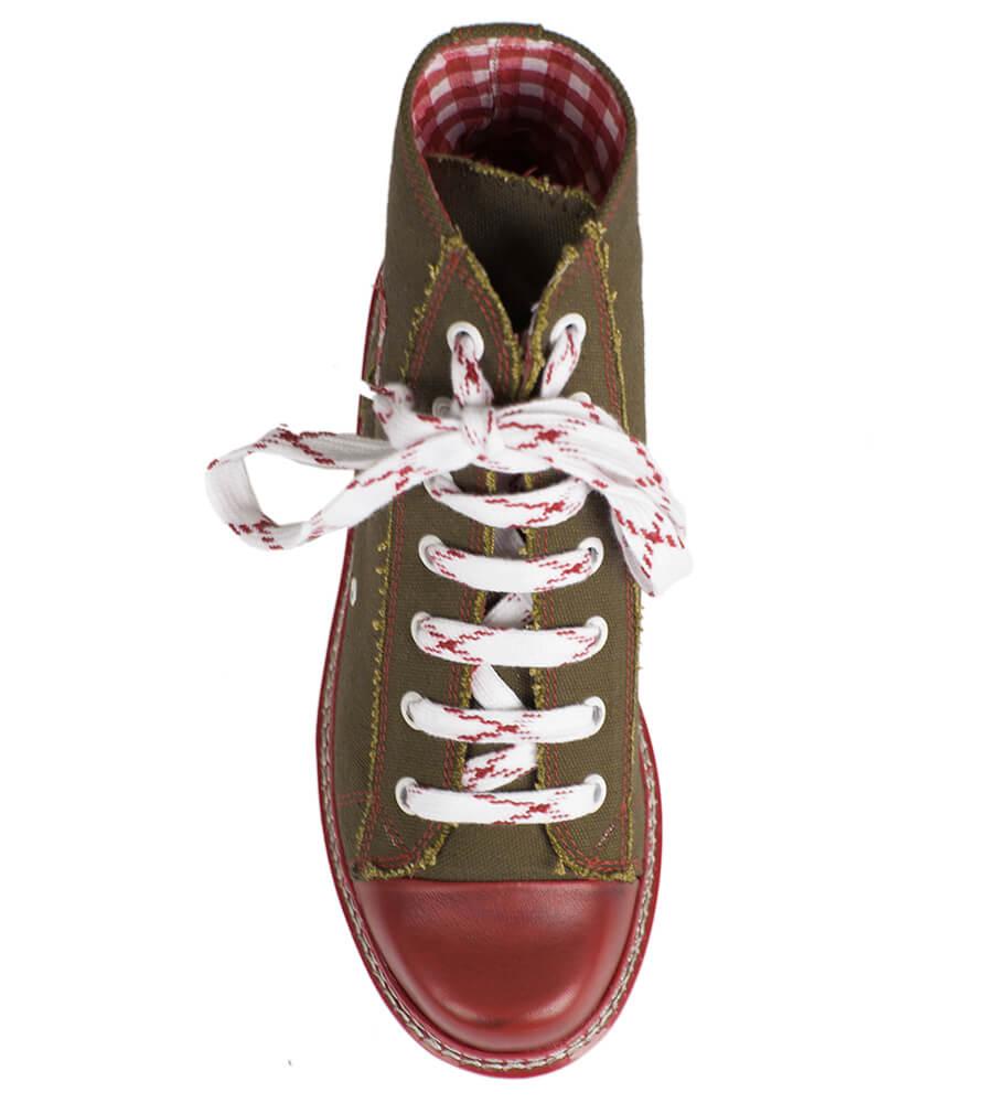 weitere Bilder von Traditional bootee D436 Jacky Canvas brown red