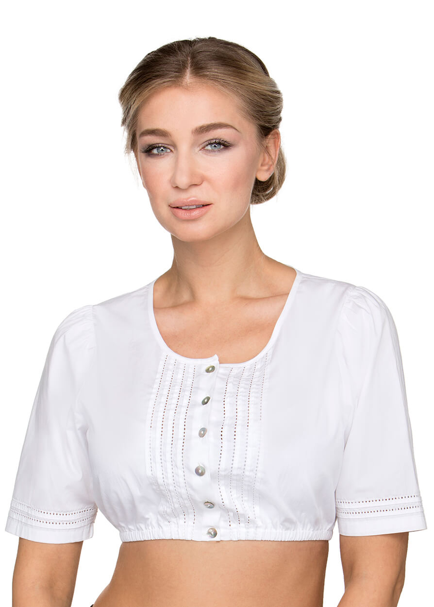 Dirndlblouse B7084 wit von Stockerpoint