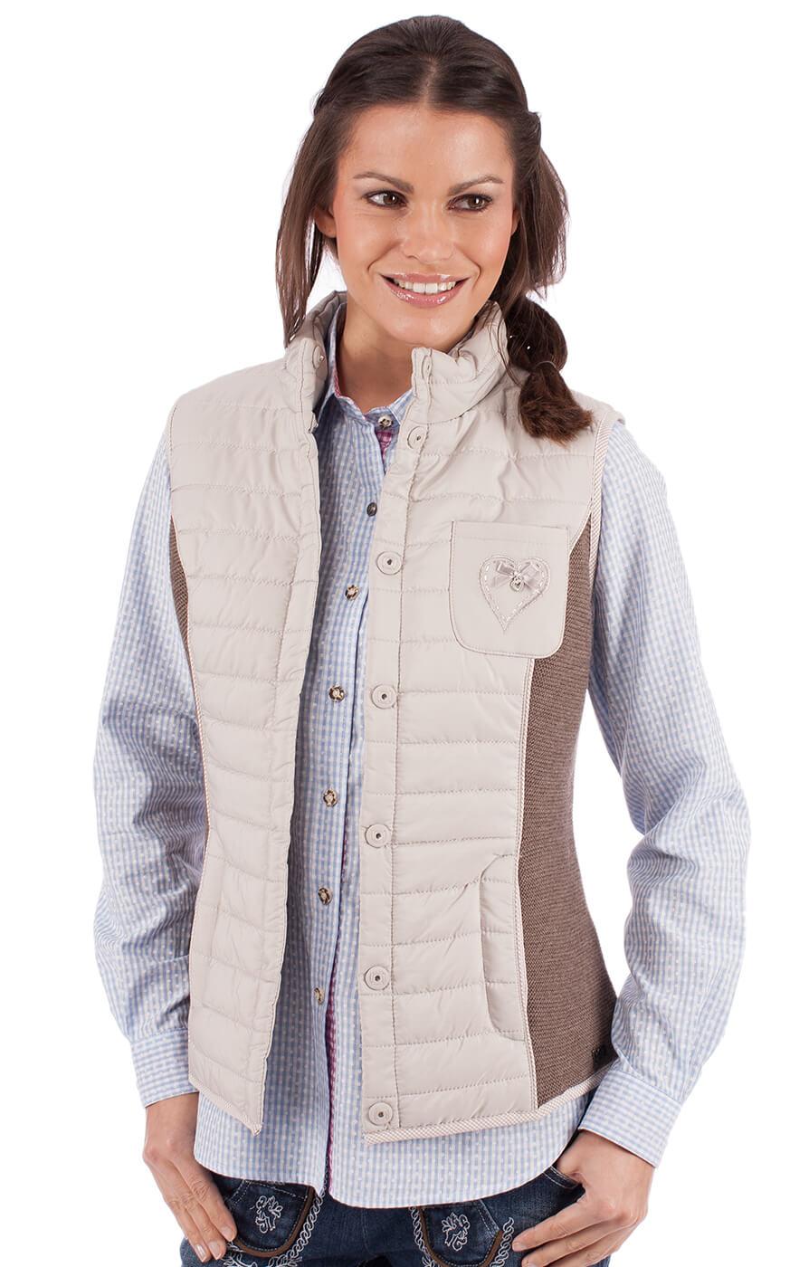 Gilet in maglia per Trachten ELKE grigio marrone von Spieth & Wensky