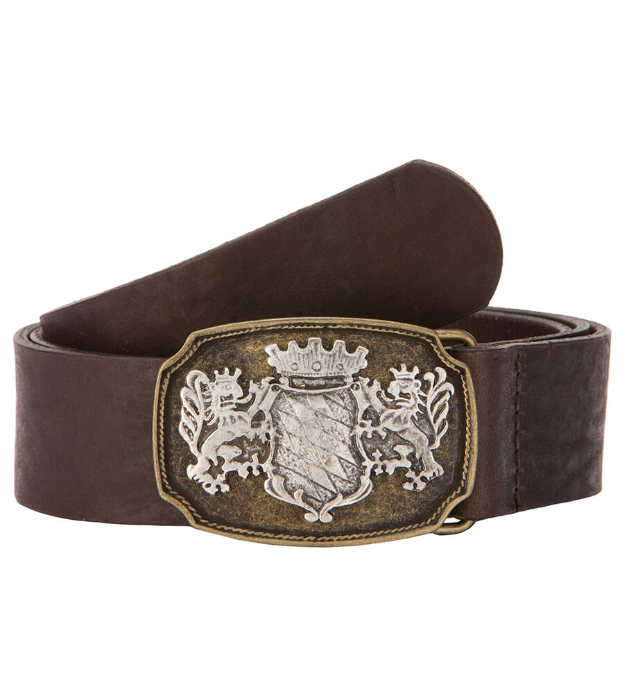 Traditional leather belt GO21171 brown von Stockerpoint