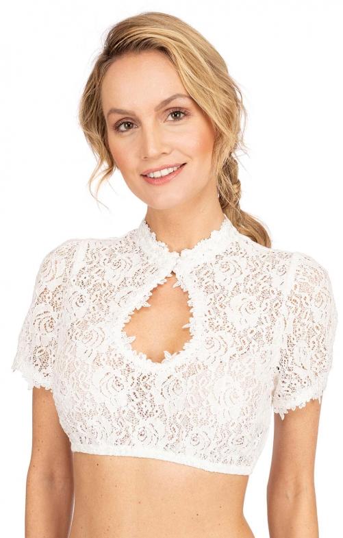 Traditional dirndl blouse AMANDA ecru