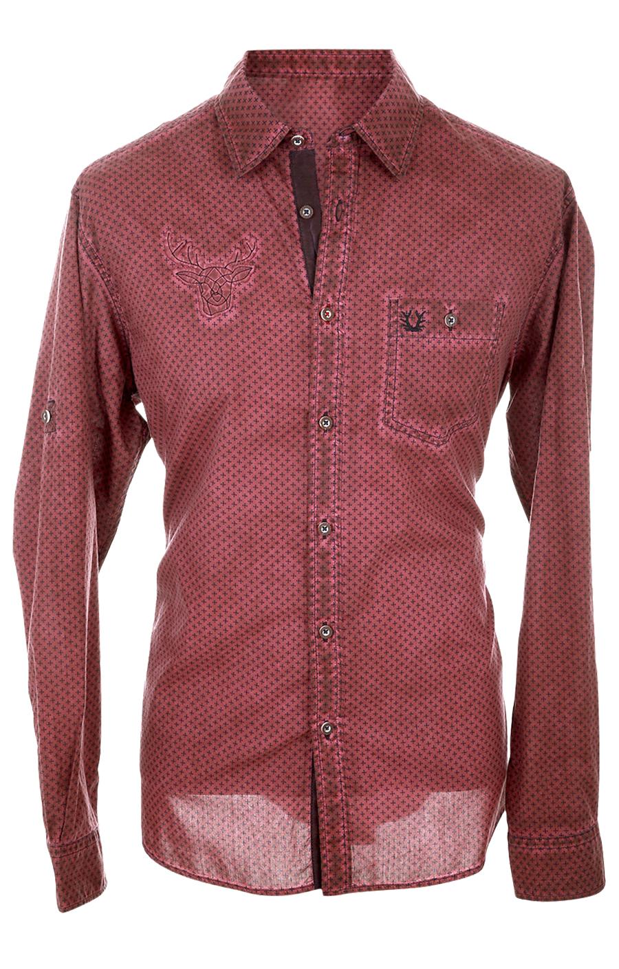 weitere Bilder von Trachtenhemd Langarm KONSTANTIN rot