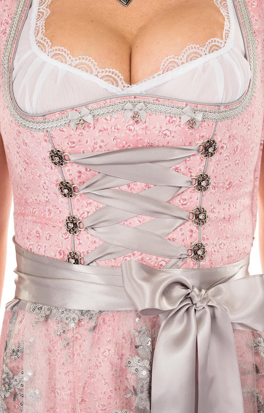 weitere Bilder von Minidirndl 2 delig 55 cm BEATA roze zilver