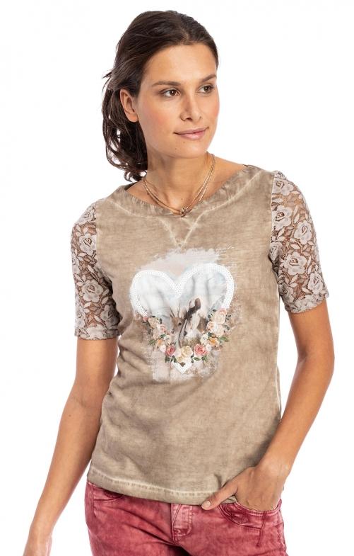 T-Shirt 321142 hellbraun