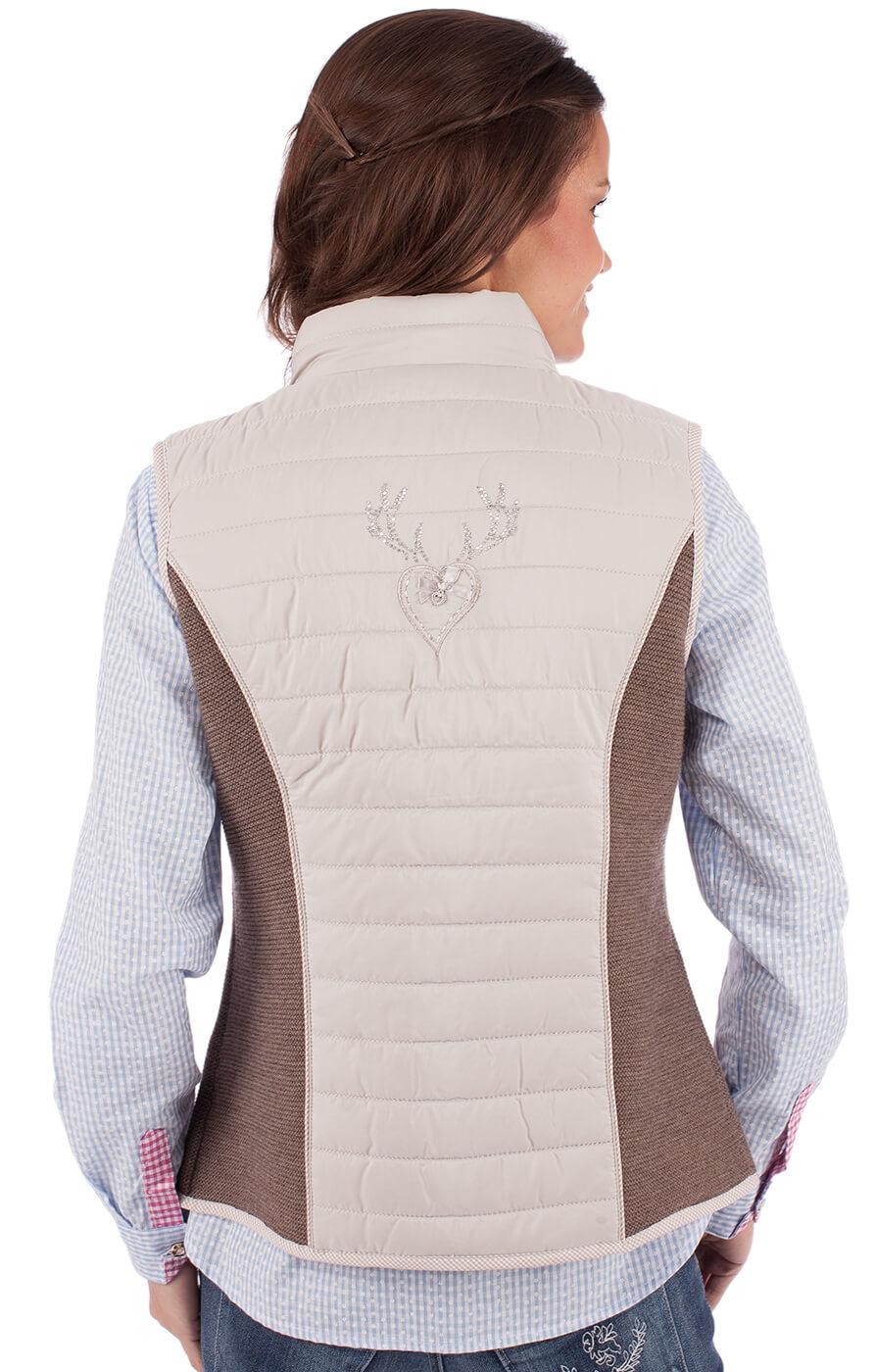 weitere Bilder von Gilet in maglia per Trachten ELKE grigio marrone