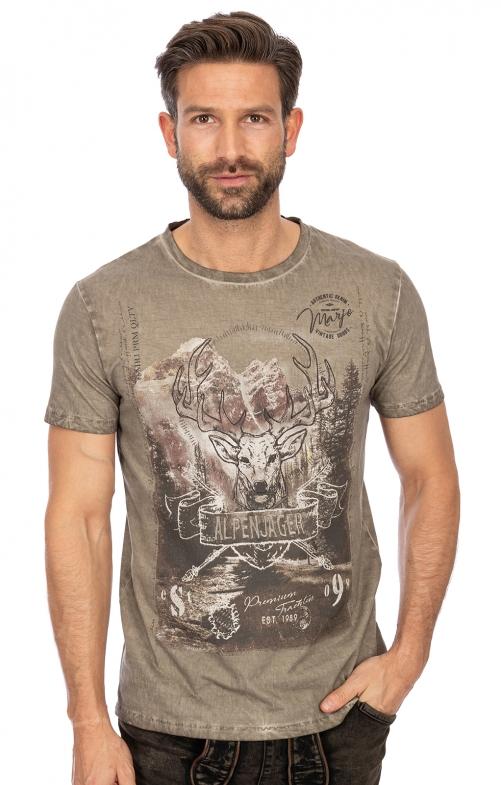T-Shirt L02 - GÜNTHER mittelbraun